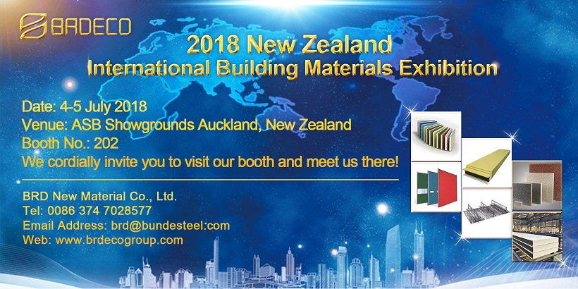 BRD Will Be Attend 2018 New Zealand Building Materials Exhibition