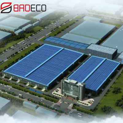 [project case] BRD 11000sqm PU edge rock wool panel application Litong Hydraulic Industrial Park Project