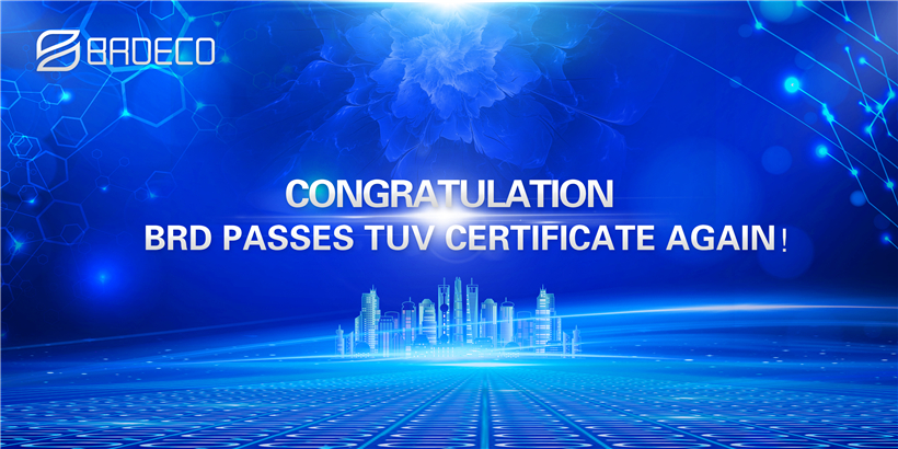 Congratulations! We Passes TUV Certificate Again