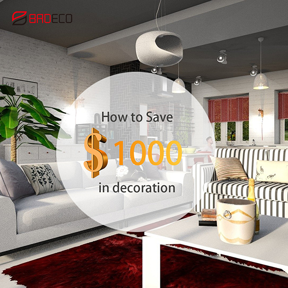 How to save money when decorating your house?